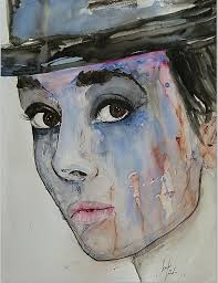 Audrey Hepburn Watercolour by Ismeta Gruenwald