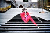 Stairs of the Musical Theatre in Seoul, South Korea
