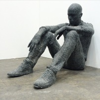 Daniel Arsham 'Seated Figure'