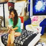 Nikky in her studio